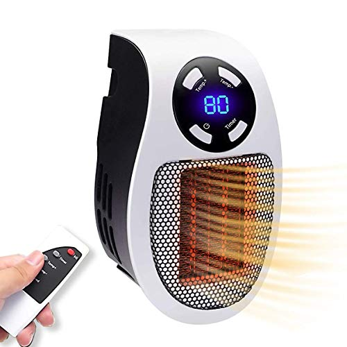 Space Heaters for Indoor Use,Ceramic Heater,Adjustable Thermostat Mini Electric Heater,Electric Portable Heater Fan For Home office wall Desktop
