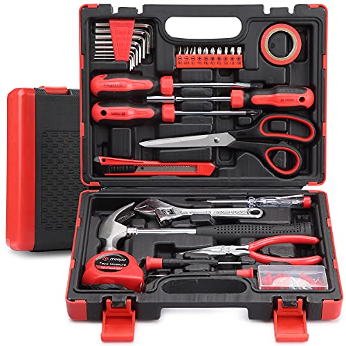M MEEPO Tool Set, 131-Piece Basic Tool Kit for Men Women Home and Household Repair, Complete Home Tool Kit for DIY, College Students, with Solid Toolbox