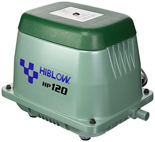 Hiblow Pompe à air HP de 120 150L/Min à 1,3 m, Sortie 18 mm, 115 W