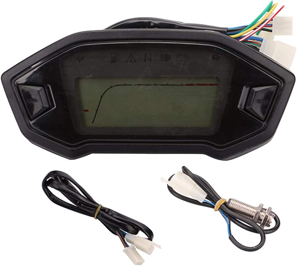 ECLENYES 12V Universal Motorcycle Speedometer Digital Odomet National uniform free shipping LCD Manufacturer direct delivery