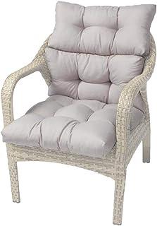 Knowledgi - Cojín de asiento y respaldo alto para sillas (110 x 55 cm, para exterior e interior)