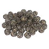 Pingentes de gaiola Healthy 50 pecas com contas espirais vazadas com esferas de arame de ferro DIY Pingentes pingentes para colar pulseira e fabricacao de joias e artesanato latao antigo 14 mm