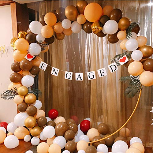 DIY Balloon Garland Kit & Balloon Arch, Party Supplies Decorations, 126Pcs ,Tan Brown Cream White Balloon Backdrop Garland for Neutral Party Rustic Baby Shower Burlap Wedding Vintage Bridal Baby Shower First Birthday Nursery Classroom Graduation Decoration Hanging Decoration