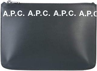 A.P.C. Men's PXAWVH63243 White Leather Clutch