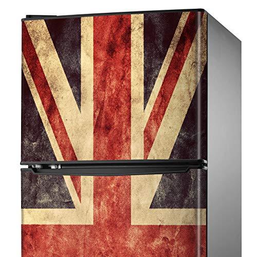MEGADECOR Adesivo decorativo per frigorifero con bandiera inglese 'Union Jack', varie misure (200 cm x 60 cm)