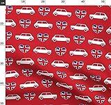 Mini Cooper, Auto, Rot, Herzen, Union Jack, Britische