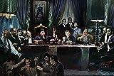 Buyartforless Gangster Last Supper by Ylli Haruni 36x24 Art