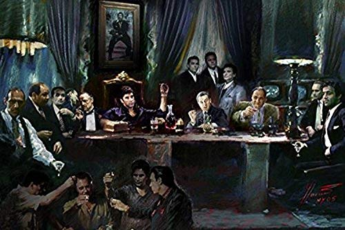 Gangster Last Supper by Ylli Haruni 36x24 Art Print Poster Godfather Scarface Sopranos Goodfellas