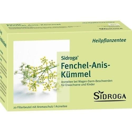 SIDROGA Fenchel Anis Kuemmel Mischung Filterbtl., 20 St
