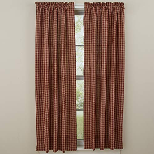 Sturbridge Country Wine Panel Curtains 72x63