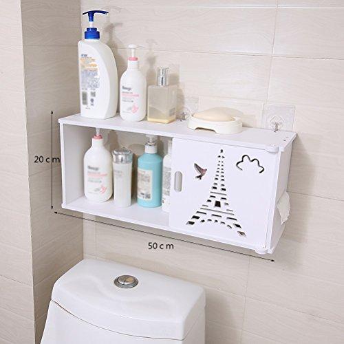 WLH- Badkamer Storage Shelf Toilet Wastafel Badkamer Toilet Set Plat (50x20cm) (Color : B)
