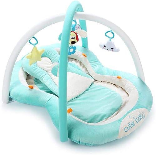 Erdnuss-Bett, Musik spielen Gymnastik-Matte, Baby-Fitness-Stand krabbel Matte, Baby-p gogisches Spielzeug, 0-12 -24 Monate Blau