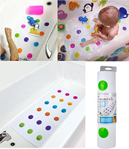 Bébé Enfant tout-petit antidérapant pour sécurité Tapis de bain Pois Munchkin UK vente