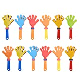 TOYMYTOY Battimano in plastica Giocattolo Clapper a Mano Colorati per applausi di 19 x 8 cm (12pcs