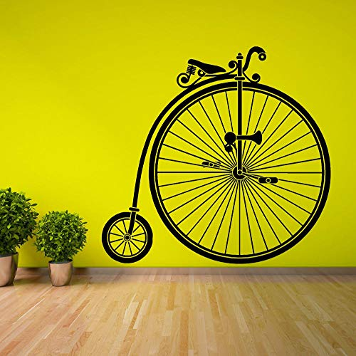 Voorwiel achterwiel grote fiets kleine woonkamer kinderkamer muursticker