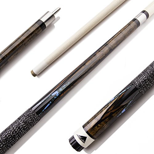 Mizerak 58' Premium Maple Billiard Cue with Stainless Steel Joint and 8-Layer Leather Tip - 2-piece