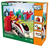BRIO- Smart Tech Set Locomotiva Intelligente con Tunnel, 33873...