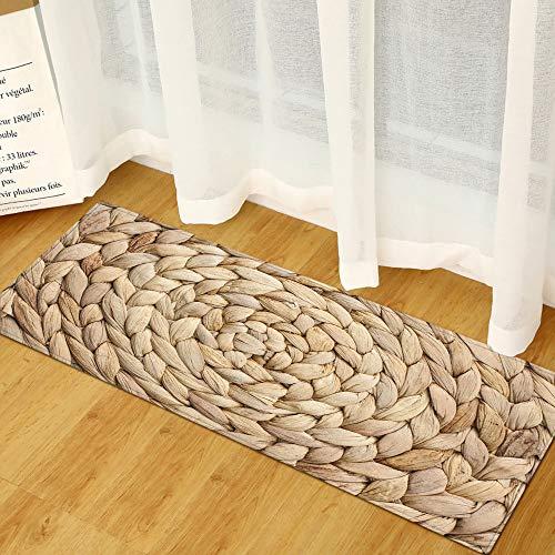 Alfombra para Salón Divertidos, Morbuy Impresión 3D Interior Franela Personalidad Decoración Fácil de Limpiar Antideslizante Lavable Alfombra de Baño (Tejido de bambú,60x90cm)
