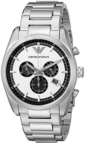 Emporio Armani Herren-Armbanduhr XL Chronograph Quarz Edelstahl AR6007