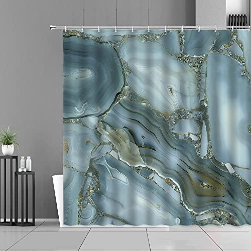 XCBN Cortinas de Ducha con patrón de Rayas de mármol Modernas, Estilo Simple, decoración del hogar, Cortina de baño, mampara de baño Impermeable A6, 120x180cm