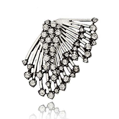European And American Wings Earrings Ladies Jewelry Club Style Earrings Zircon Fashion Exaggerated Earrings (Color : 123)