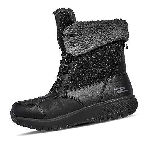 Skechers Outdoor Ultra Hohe Stiefel Damen, Schwarz (Black/Gray Textile Bkgy), 36 EU