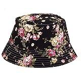 Casual y duradera Señoras del resorte del sombrero del sombrero del cubo plana Sombrero de de verano floral Hip Hop Panamá Sombrero Protector solar plegable accesorios al aire libre ( Color : 2 )