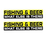 Suwhao 2X 15Cmx3Cm Fishing & Beer, Was Noch Gibt Body Car Sticker Pvc Decal  3 Stück