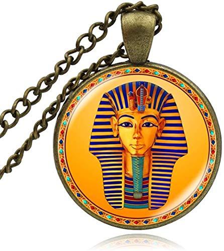 CCXXYANG Co.,ltd Collar Collar De Faraón Egipcio Antiguo Egipto Tutankamón Joyería Histórica Vintage Cúpula De Cristal Colgante Hombre Regalos
