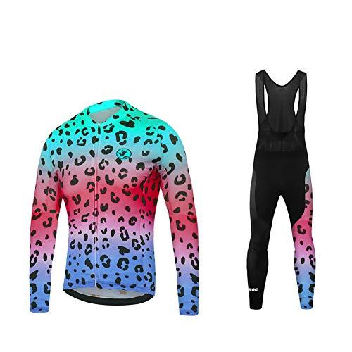 Uglyfrog BurningBikewear Conjunto Ciclismo Moda Hombres Invierno20D Cojín Pantalones Larga Thermo Lana Malliot de Ciclismo Ropa de Ciclista Bodies Anti-frío