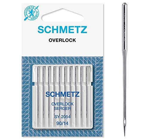 SCHMETZ Nähmaschinen-Nadeln | 10 Overlock-Nadeln | Nadelsystem SY 2054 und 16x75 | Nadeldicke 90/14