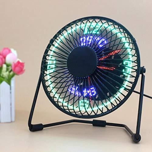 Naliovker USB Led Reloj Ventilador con Tiempo Real Pantalla De ...