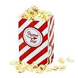 Popcorntüten Popcorn 100 Stück klein Candy Bar Tüten Box Hochzeit Süßigkeiten Boxen für Party Papier Behälter Rot Weiß gestreift Snackbox Geschenk Kinder Heimkino Zuhause