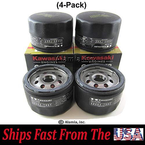 (4-Pack) Genuine Kawasaki Oil Filter 49065-7007 Fits FS, FX, Series Engines