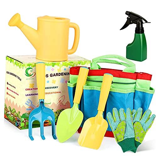 Kit de jardín para niños,Herramientas de jardín para niños,Bolsa para...