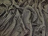 Minerva Crafts Stoff, knitterfrei, Meterware, Braun