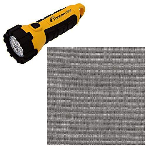 Toucan City LED Flashlight and Hampton Bay Camden CushionGuard Stone Gray Patio Loveseat Slipcover Set 7973-10424900