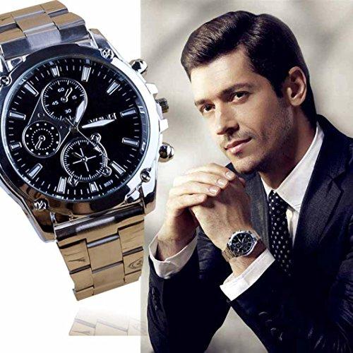 Reloj para hombre Fulltime de acero inoxidable y cuarzo