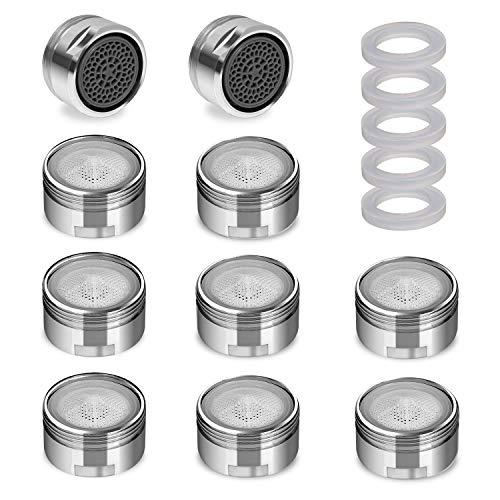 Nirox 10x Wasserhahn Strahlregler im Set - Mischdüse mit M24x1 Außengewinde - 9L/M wassersparender Durchflussbegrenzer - Belüfter - Luftsprudler für Bad & Küche