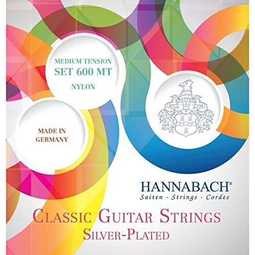 Hannabach 652257 Klassikgitarrensaiten Serie 600 Medium Tension versilbert - Satz