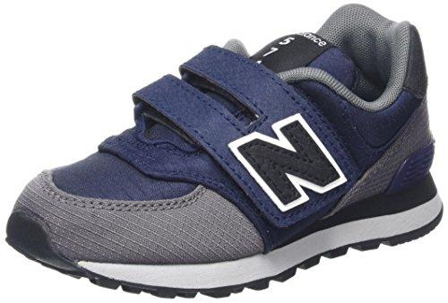 New Balance New Balance, Unisex-Kinder Sneaker, Mehrfarbig (Navy/grey), 39 EU (6 UK)