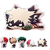 QAHEART Anime MHA Plush Toy Doll -Anime Hero Figure Pillow Toy Novelty Cartoon Image Throw Pillow Bed Couch Creative Toy Gifts Teens Girls Kids