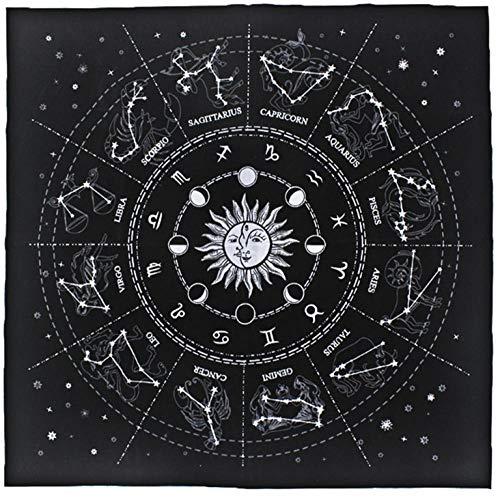 Mandala Tapestry Bohemian Art Retro Home Decor Zodiac Juego de mesa Astrología...