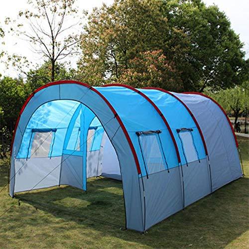 Tiendas de campaña Camping al Aire Libre Tienda de campaña Grande Lona Impermeable Fibra de Vidrio 5 8 Personas Túnel Familiar 10 Personas Equipo de Tiendas de campaña al Aire Libre