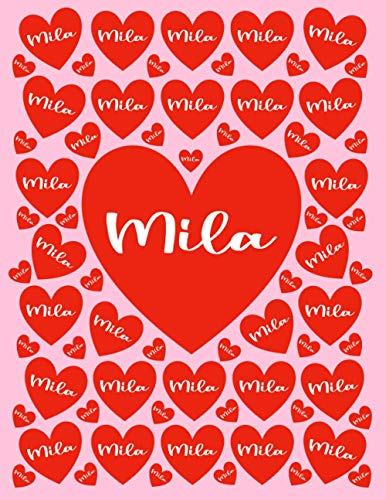 MILA: All Events Customized Name Gift for Mila, Love Present for Mila Personalized Name, Cute Mila Gift for Birthdays, Mila Appreciation, Mila Valentine - Blank Lined Mila Notebook (Mila Journal)