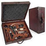 RERXN Ensembles d'accessoires pour vin avec Coffret en Bois Antique,kit...