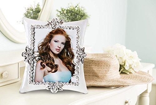 Bilderrahmen Fotorahmen   20x25cm   Standbilderrahmen   Silber   Weiß   Extravagant   Klare Sicht auf das Bild   Edel