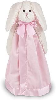 Bearington Baby Bunny Snuggler, Pink Rabbit Plush Stuffed Animal Security Blanket, Lovey 15