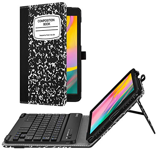 Fintie Folio Keyboard Case for Samsung Galaxy Tab A 8.0 2019 Without S Pen Model (SM-T290 Wi-Fi, SM-T295 LTE), Premium PU Leather Stand Cover w/Removable Wireless Bluetooth Keyboard, Composition B