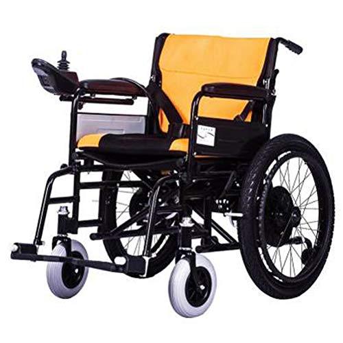 SPAQG elektrische handmatige dubbele modus, opvouwbare rolstoel bijgestaan parkeerrem rem, 17,7 inch zitting voor ondersteuning en comfort